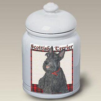 Scottish Terrier Dog Treat Cookie Jar II