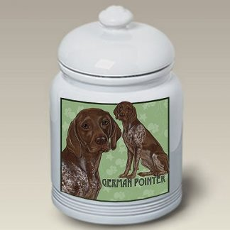German Shorthair Pointer Dog Treat Cookie Jar III