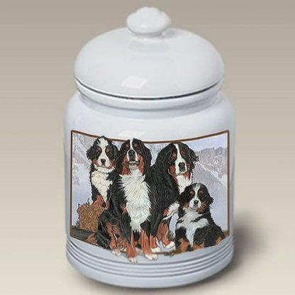 Bernese Mountain Dog Dog Treat Cookie Jar III