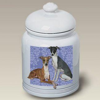 Italian Greyhound Dog Treat Cookie Jar II
