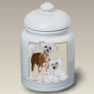 Chinese Crested Dog Treat Cookie Jar II