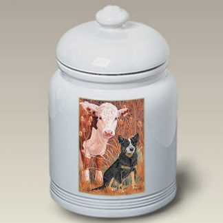 Australian Cattle Dog Dog Treat Cookie Jar III