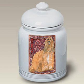 Afghan Hound Dog Treat Cookie Jar II