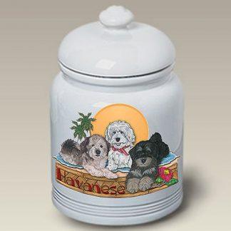 Havanese Dog Treat Cookie Jar II