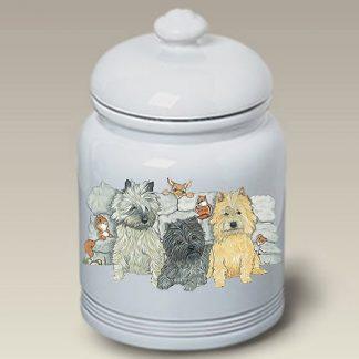 Cairn Terrier Dog Treat Cookie Jar II