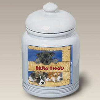 Akita Dog Treat Cookie Jar III