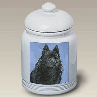 Schipperke Dog Treat Cookie Jar II