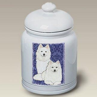 American Eskimo Dog Treat Cookie Jar