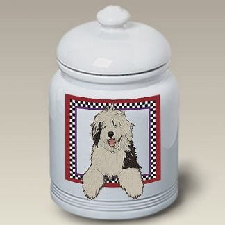 Old English Sheepdog Dog Treat Cookie Jar