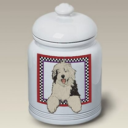 Old English Sheepdog Dog Treat Cookie Jar
