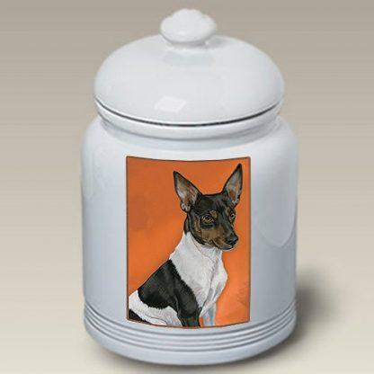 Rat Terrier Dog Treat Cookie Jar II