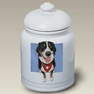 Greater Swiss Mountain Dog Dog Treat Cookie Jar