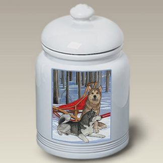 Alaskan Malamute Dog Treat Cookie Jar II