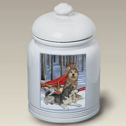 Alaskan Malamute Dog Treat Cookie Jar II