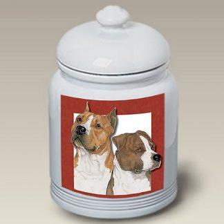 Staffordshire Terrier Dog Treat Cookie Jar II