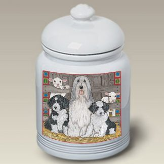 Bearded Collie Dog Treat Cookie Jar