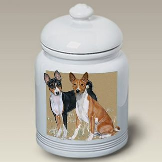 Basenji Dog Treat Cookie Jar
