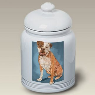 American Bulldog Dog Treat Cookie Jar II