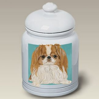 Japanese Chin Dog Treat Cookie Jar II