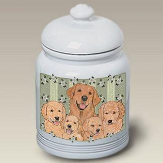 Golden Retriever Dog Treat Cookie Jar VI