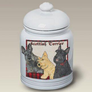 Scottish Terrier Dog Treat Cookie Jar III