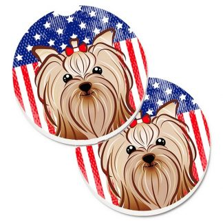 Yorkshire Terrier Car Coasters - USA (Set of 2)