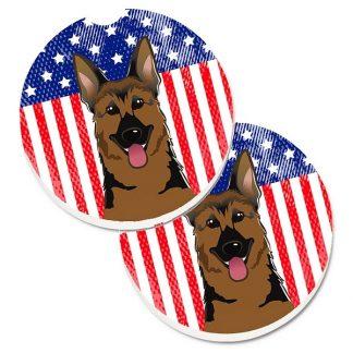 German Shepherd Car Coasters - USA (Set of 2)