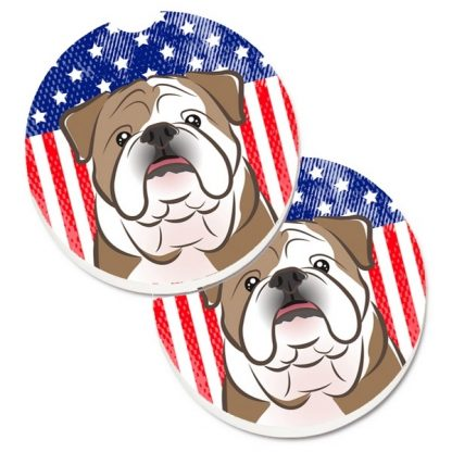 Bulldog Car Coasters - USA (Set of 2)