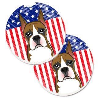 Boxer Car Coasters - USA (Set of 2)