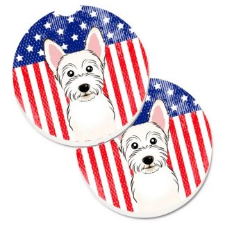 West Highland Terrier Car Coasters - USA (Set of 2)