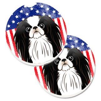 Japanese Chin Car Coasters - USA (Set of 2)