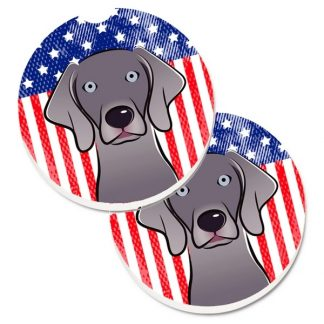 Weimaraner Car Coasters - USA (Set of 2)