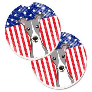 Italian Greyhound Car Coasters - USA (Set of 2)