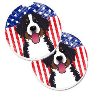 Bernese Mountain Dog Car Coasters - USA (Set of 2)