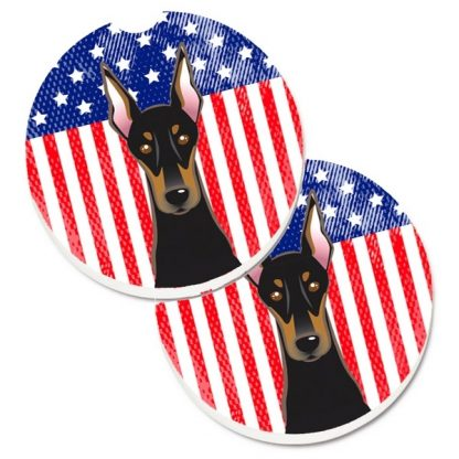Doberman Pinscher Car Coasters - USA (Set of 2)