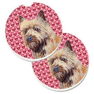 Cairn Terrier Car Coasters - Hearts (Set of 2)