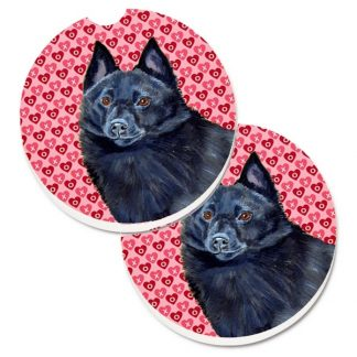 Schipperke Car Coasters - Hearts (Set of 2)