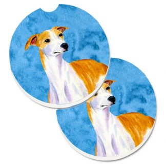 Whippet Car Coasters - Bright Blue (Set of 2)