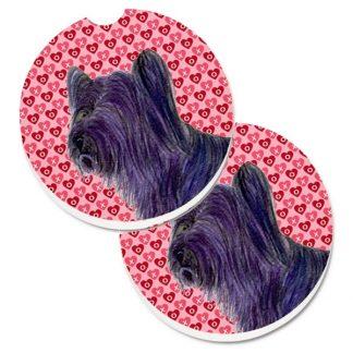 Skye Terrier Car Coasters - Hearts (Set of 2)