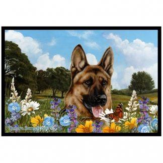 German Shepherd Mat - Summer Flowers