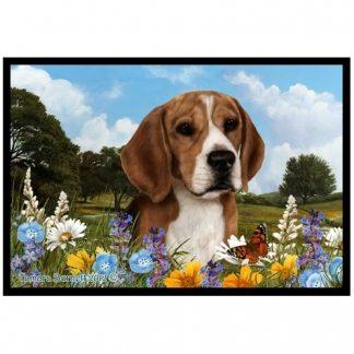 Beagle Mat - Summer Flowers