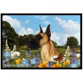 Great Dane Mat - Summer Flowers