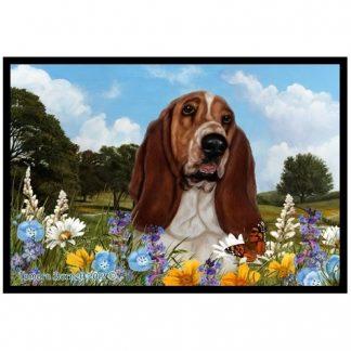 Basset Hound Mat - Summer Flowers