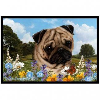 Pug Mat - Summer Flowers