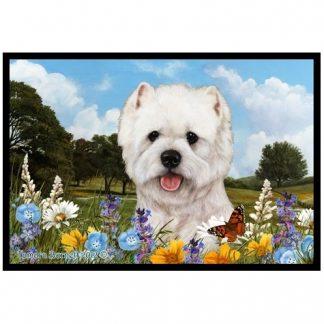 West Highland Terrier Mat - Summer Flowers