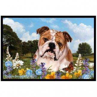 Bulldog Mat - Summer Flowers