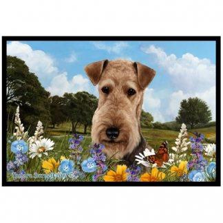 Airedale Terrier Mat - Summer Flowers