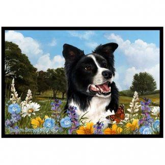 Border Collie Mat - Summer Flowers