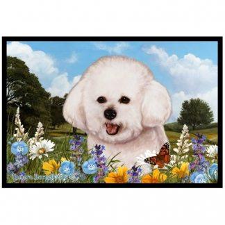 Bichon Frise Mat - Summer Flowers