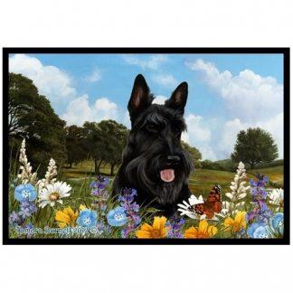 Scottish Terrier Mat - Summer Flowers